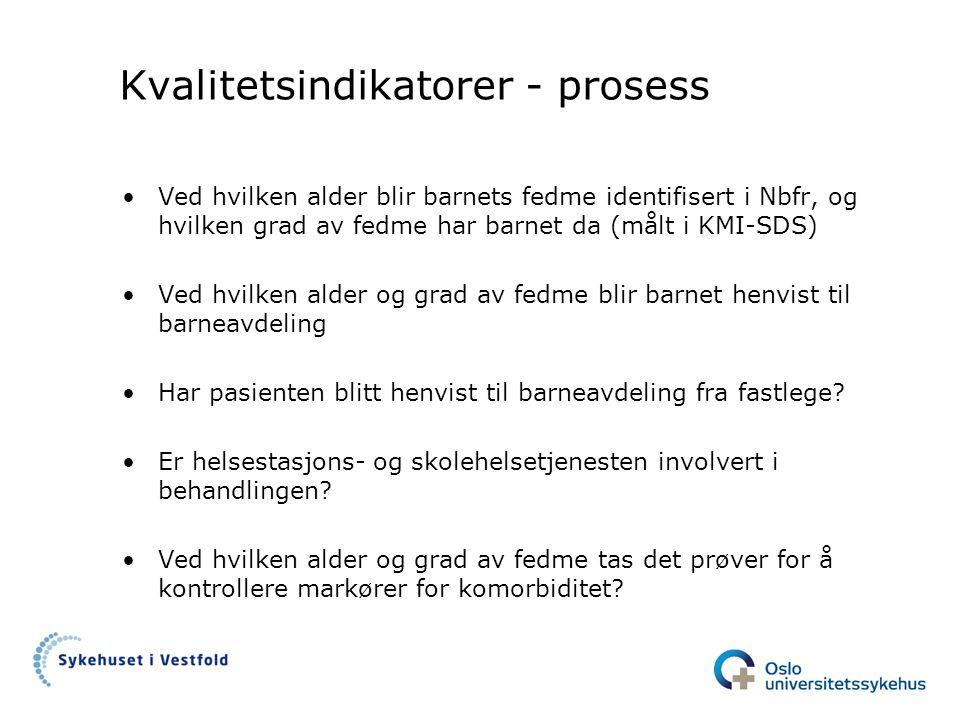 Kvalitetsindikatorer - prosess