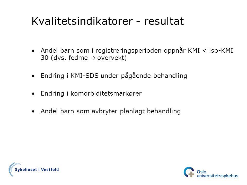 Kvalitetsindikatorer - resultat