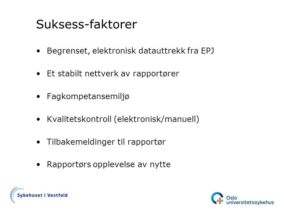 Suksess-faktorer Begrenset, elektronisk datauttrekk fra EPJ