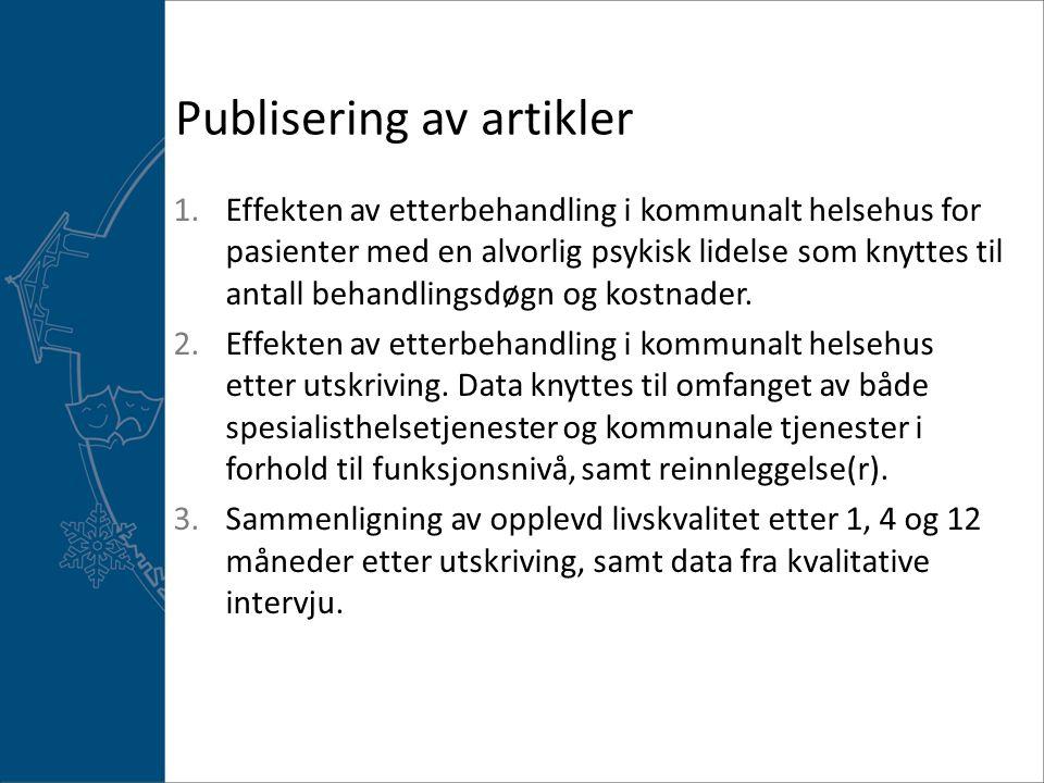 Publisering av artikler