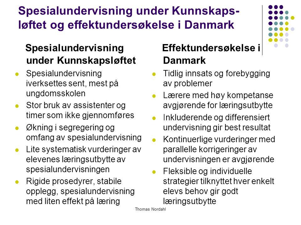 Spesialundervisning under Kunnskapsløftet Effektundersøkelse i Danmark