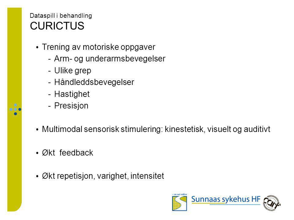 Dataspill i behandling CURICTUS