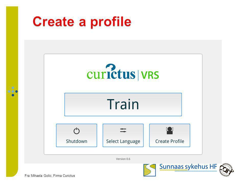 Create a profile Fra Mihaela Golic, Firma Curictus