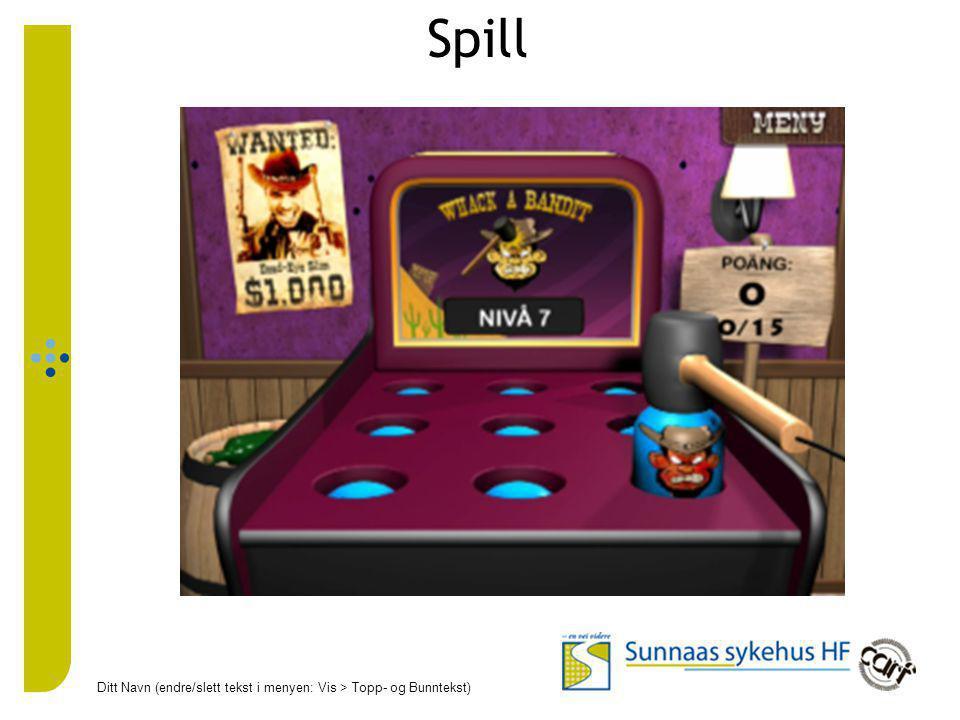 Spill Ditt Navn (endre/slett tekst i menyen: Vis > Topp- og Bunntekst) 25