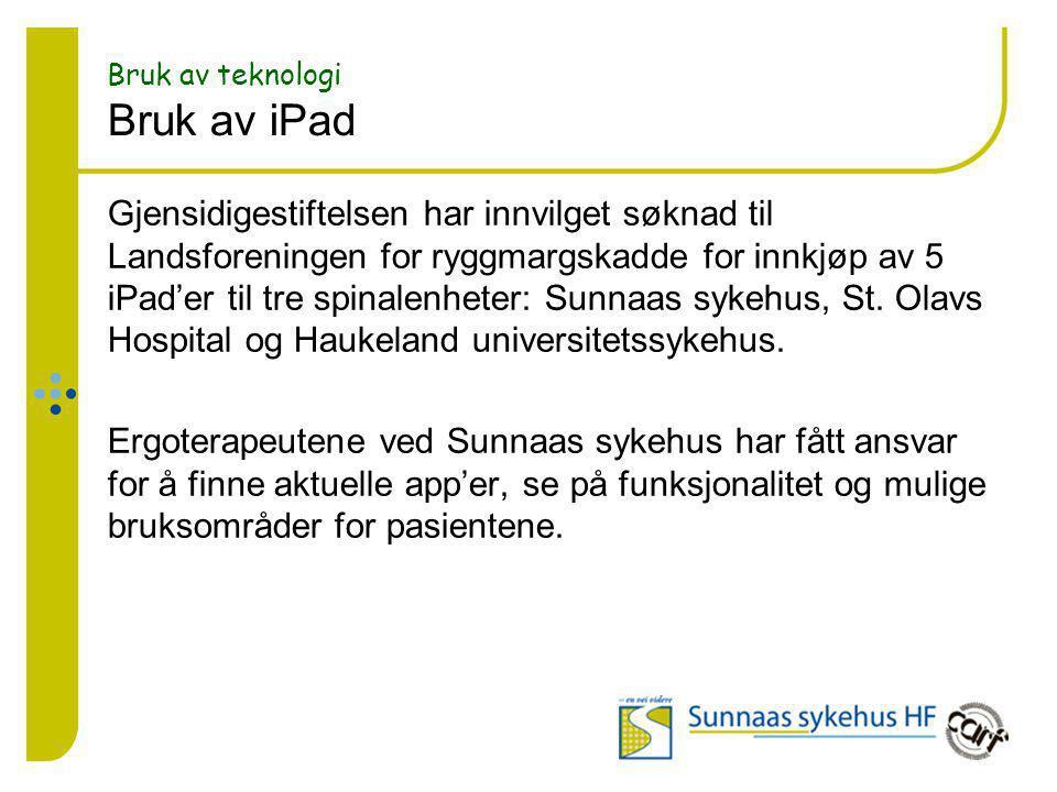 Bruk av teknologi Bruk av iPad