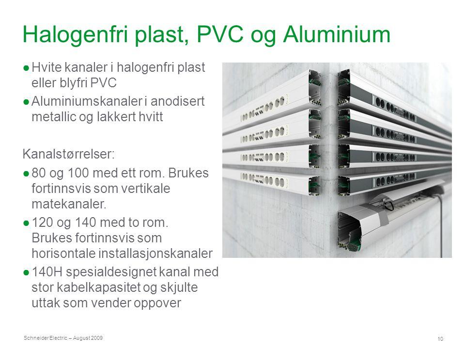 Halogenfri plast, PVC og Aluminium