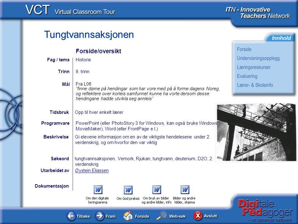 Forside/oversikt Fag / tema Historie Trinn 9. trinn