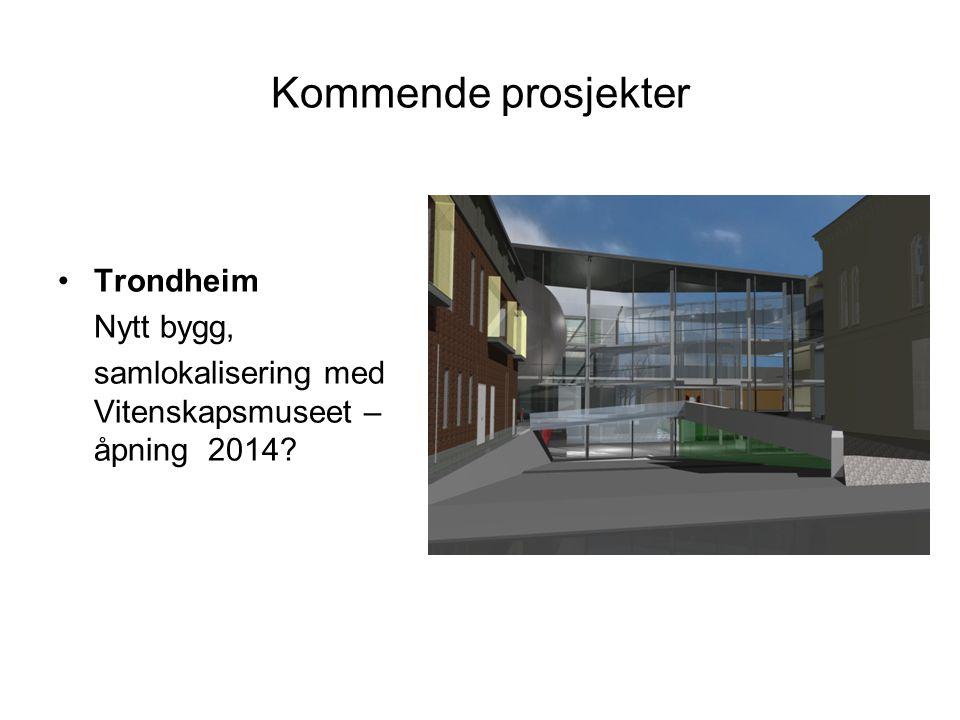 Kommende prosjekter Trondheim Nytt bygg,
