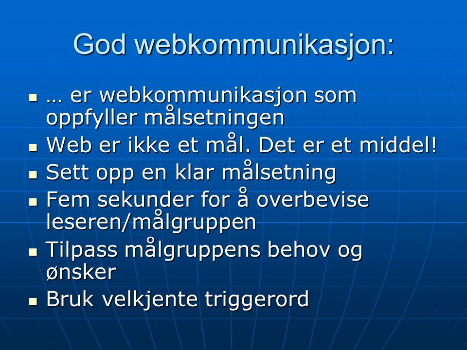 God webkommunikasjon: