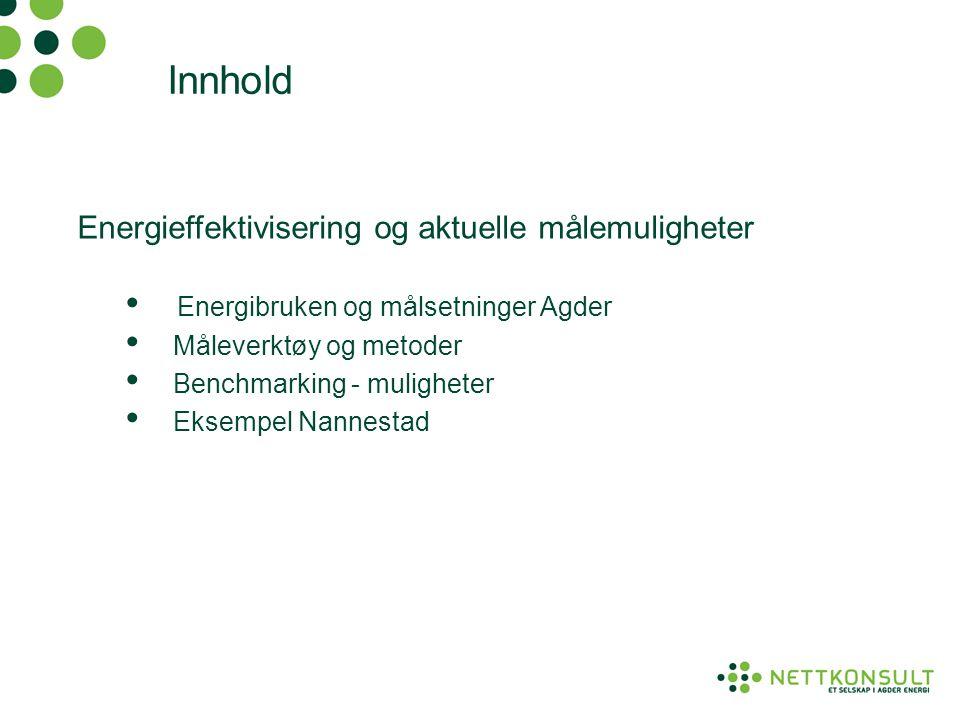 Innhold Energieffektivisering og aktuelle målemuligheter