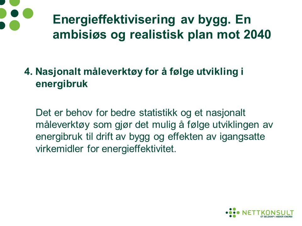 Energieffektivisering av bygg. En ambisiøs og realistisk plan mot 2040