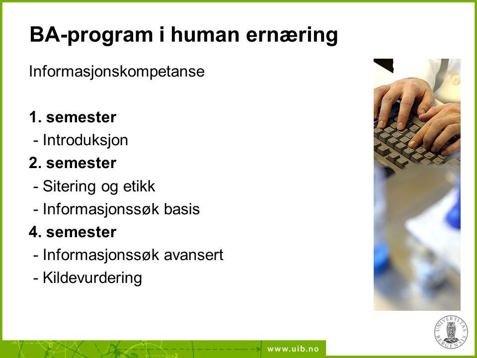 BA-program i human ernæring
