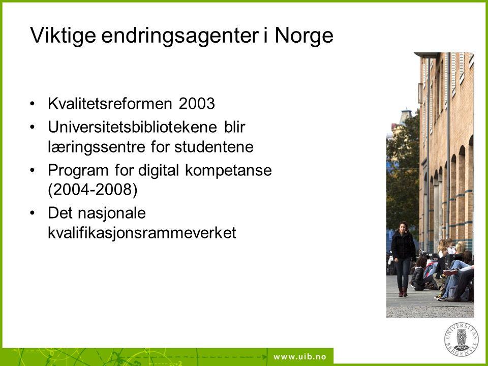 Viktige endringsagenter i Norge