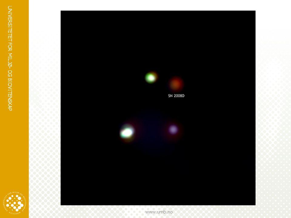 Dette er en supernova; en stjerne som dør gjennom en eksplosjon