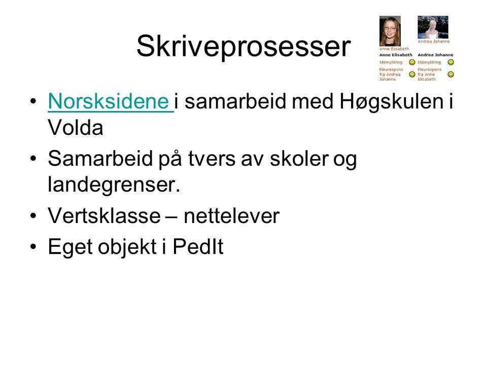 Skriveprosesser Norsksidene i samarbeid med Høgskulen i Volda