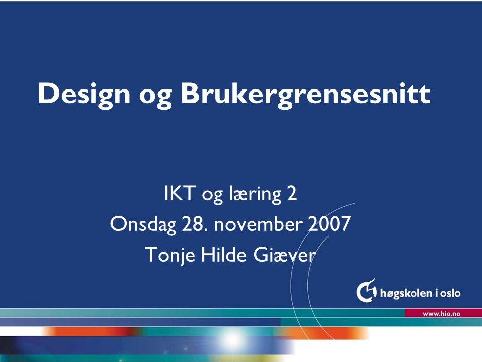 Design og Brukergrensesnitt