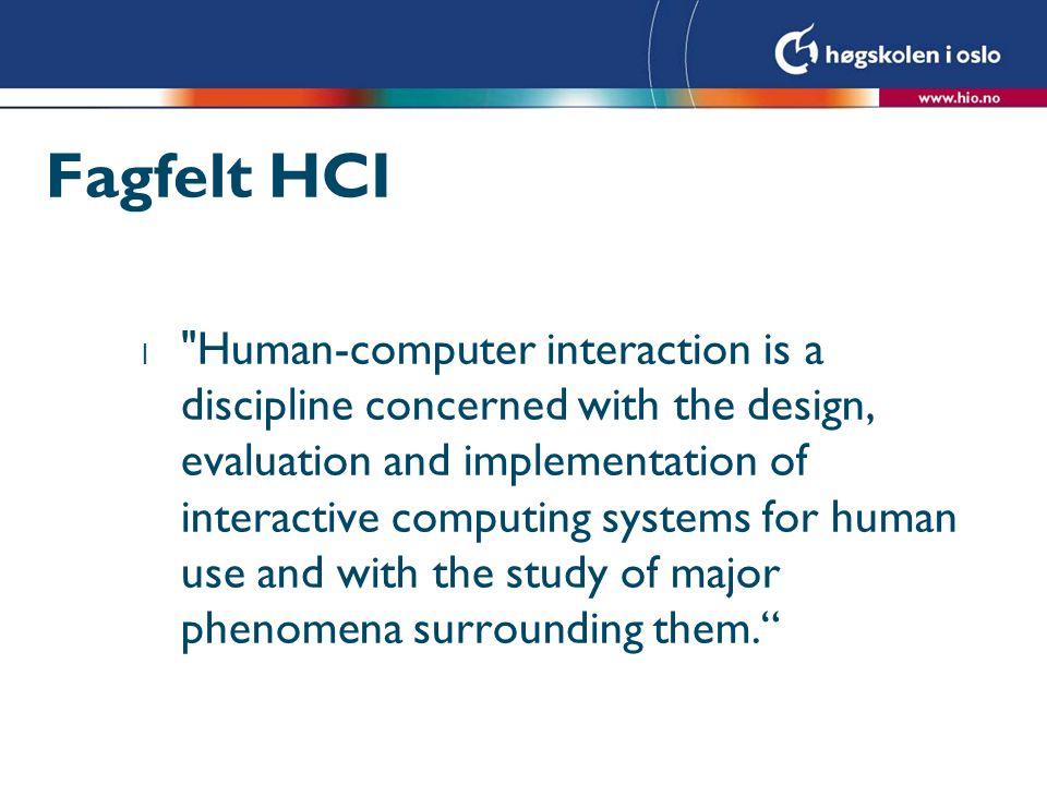 Fagfelt HCI