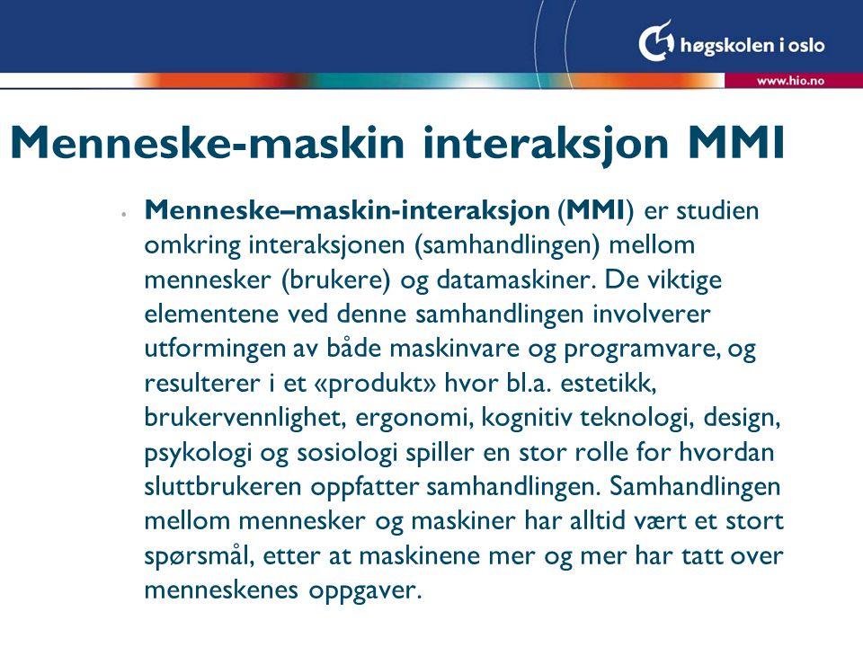 Menneske-maskin interaksjon MMI
