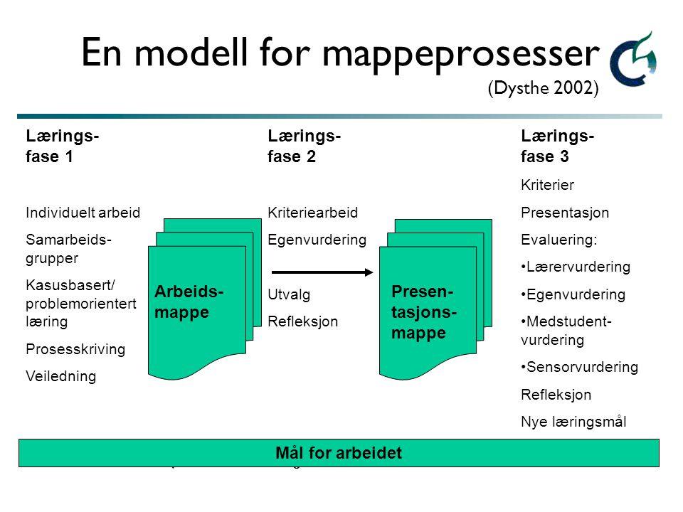 En modell for mappeprosesser (Dysthe 2002)