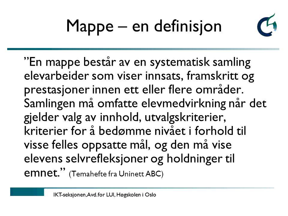 Mappe – en definisjon