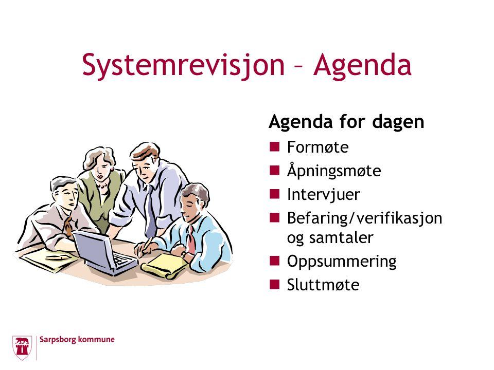 Systemrevisjon – Agenda