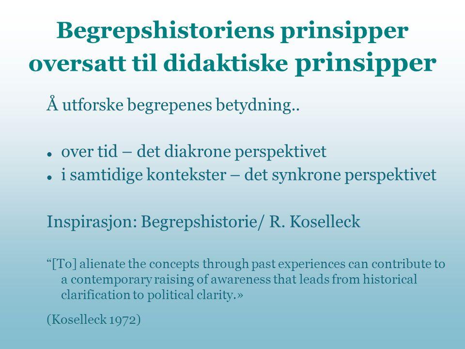 Begrepshistoriens prinsipper oversatt til didaktiske prinsipper