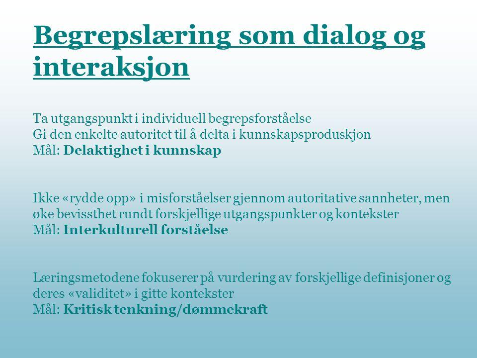 Begrepslæring som dialog og interaksjon