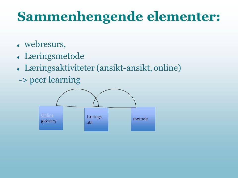 Sammenhengende elementer: