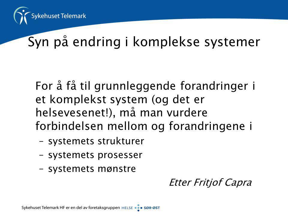 Syn på endring i komplekse systemer