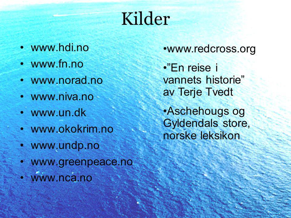 Kilder www.hdi.no www.redcross.org www.fn.no