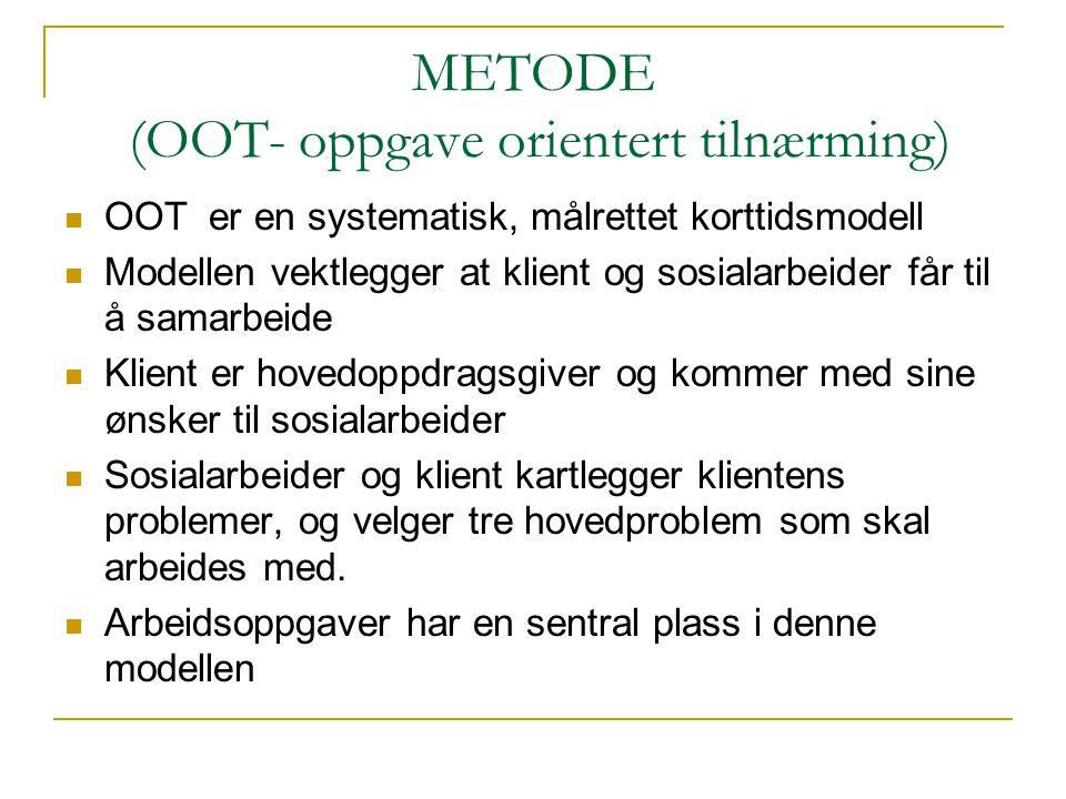METODE (OOT- oppgave orientert tilnærming)