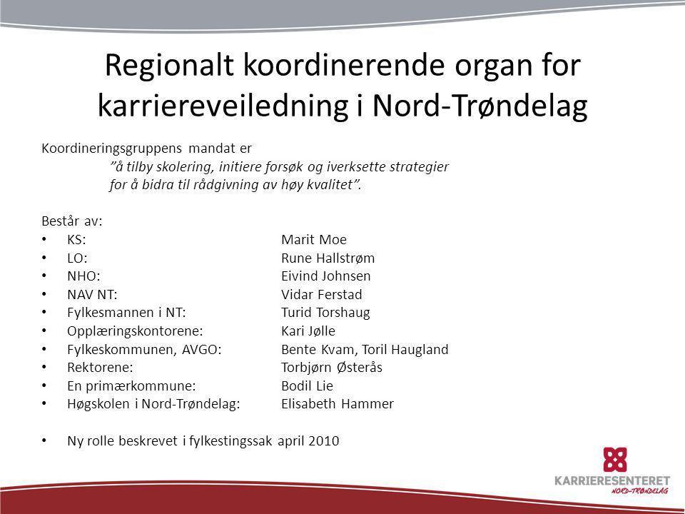 Regionalt koordinerende organ for karriereveiledning i Nord-Trøndelag