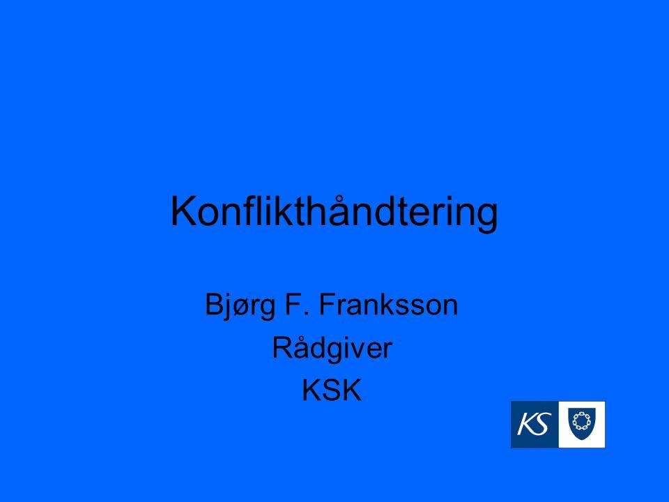 Bjørg F. Franksson Rådgiver KSK
