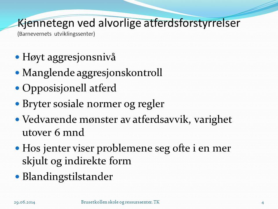 Kjennetegn ved alvorlige atferdsforstyrrelser (Barnevernets utviklingssenter)