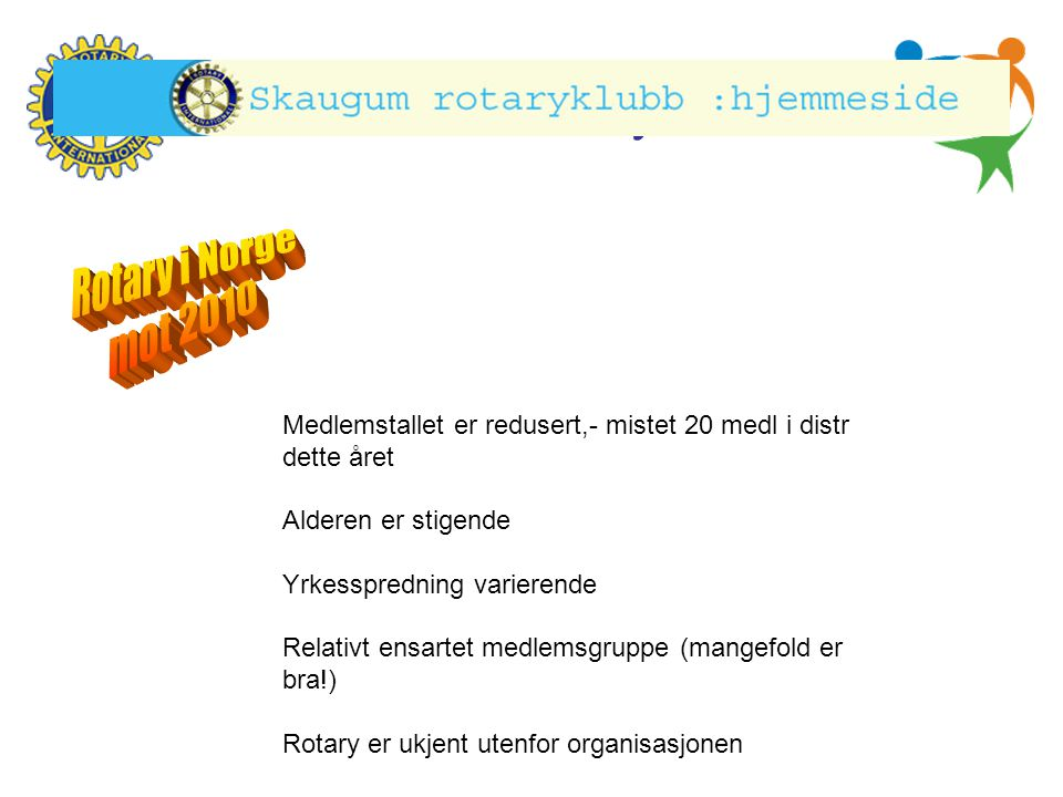 Rotary i Norge Rotary i Norge mot 2010 mot 2010