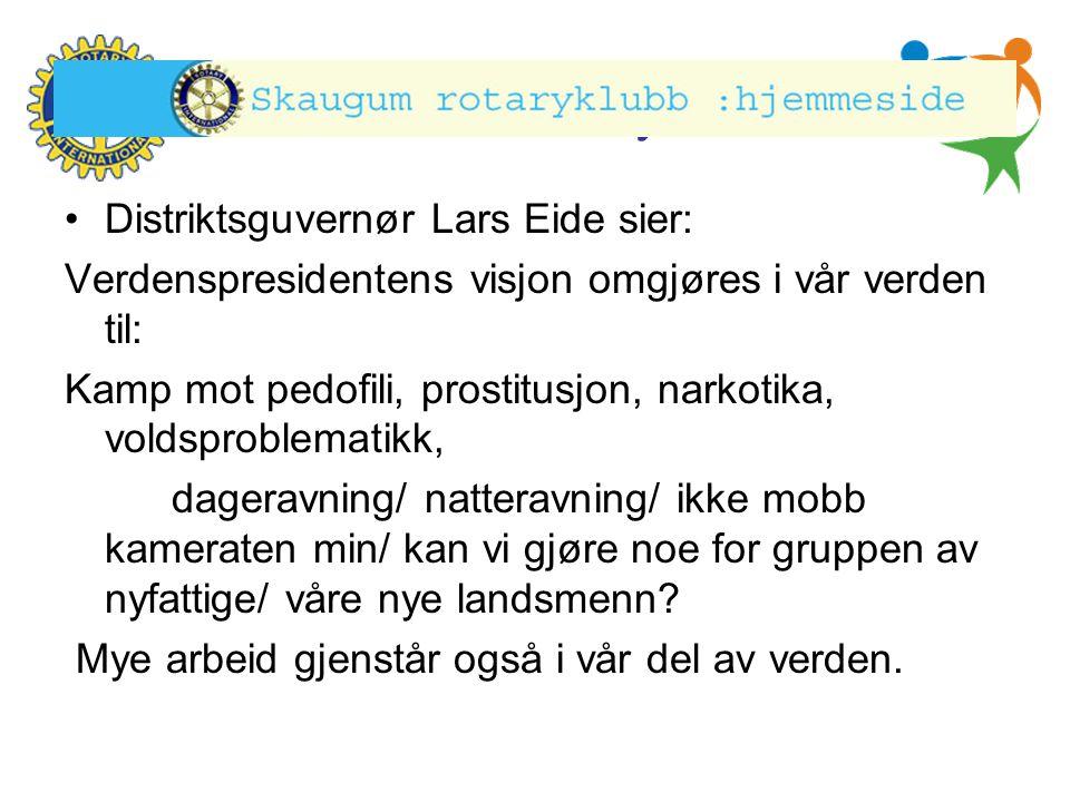 Distriktsguvernør Lars Eide sier: