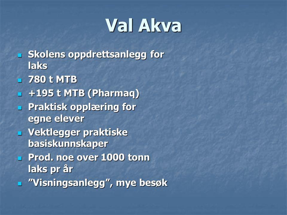 Val Akva Skolens oppdrettsanlegg for laks 780 t MTB