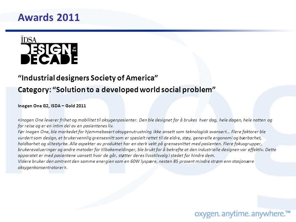 Awards 2011 Industrial designers Society of America