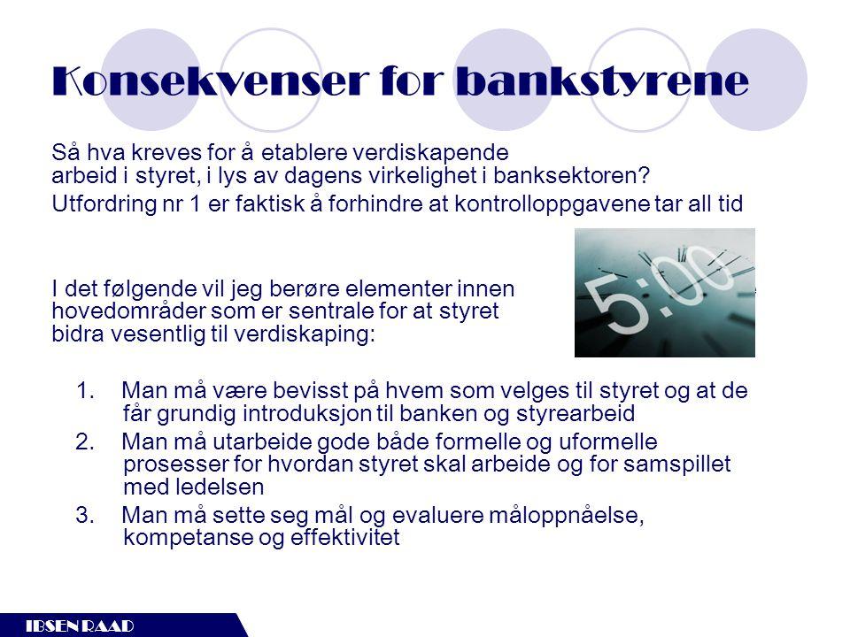 Konsekvenser for bankstyrene
