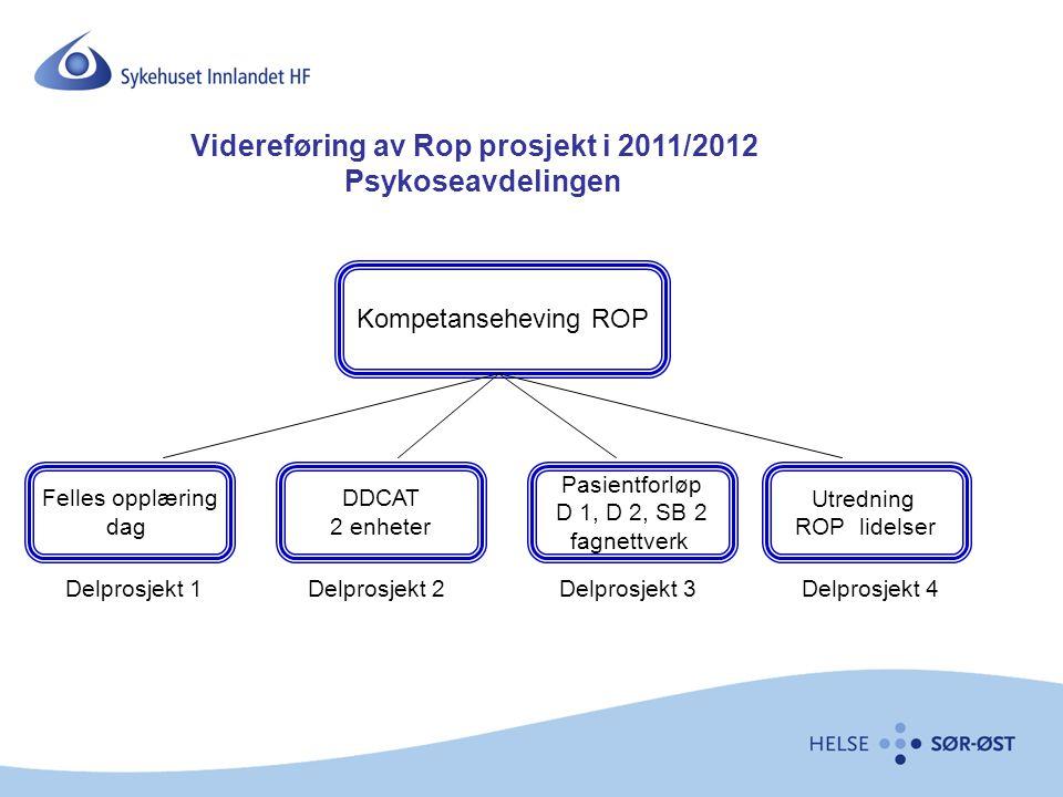 Videreføring av Rop prosjekt i 2011/2012 Psykoseavdelingen