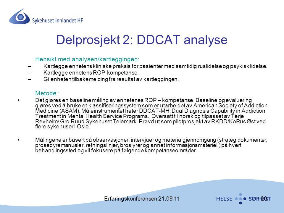 Delprosjekt 2: DDCAT analyse