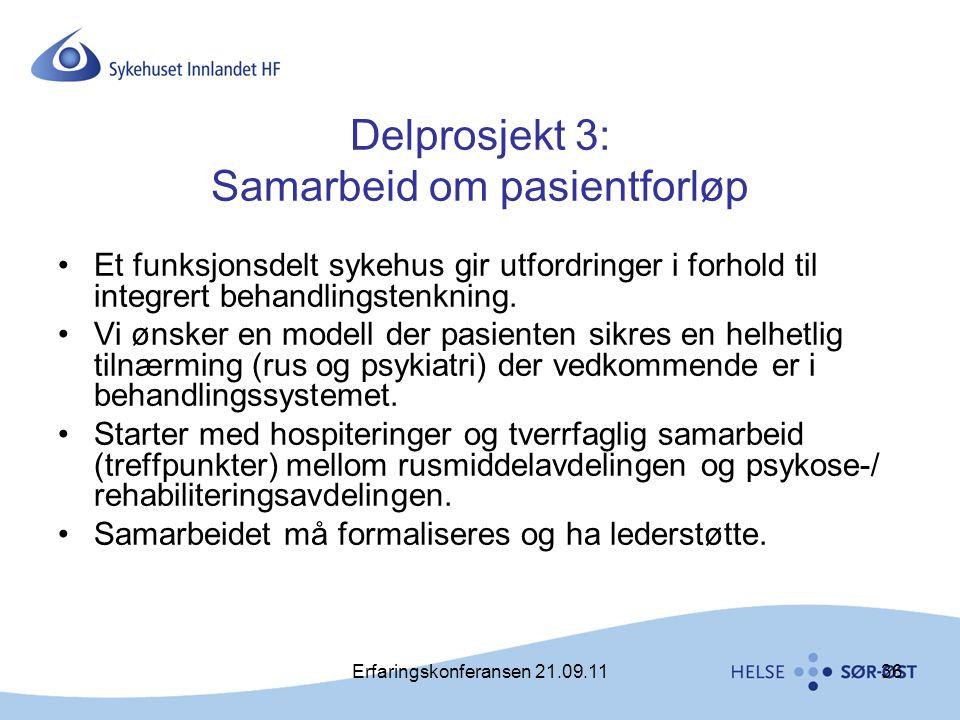 Delprosjekt 3: Samarbeid om pasientforløp