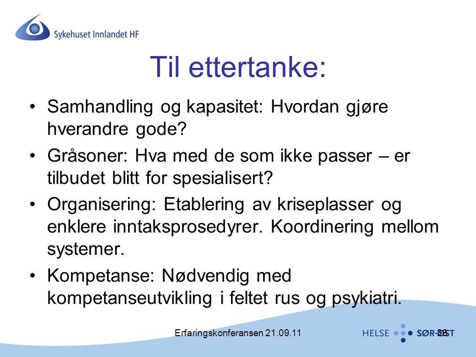 Erfaringskonferansen 21.09.11