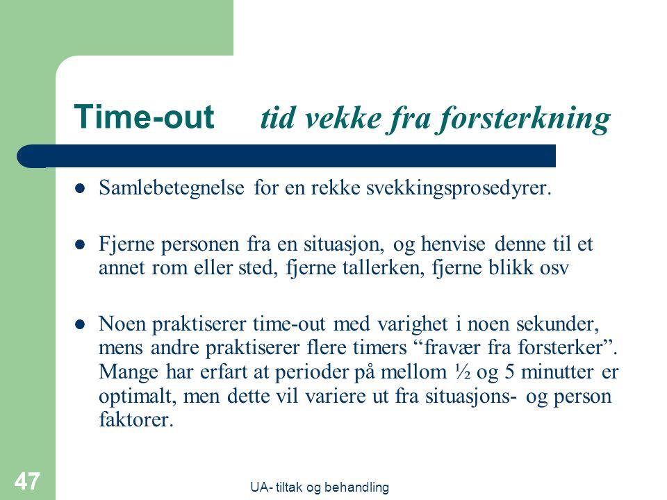 Time-out tid vekke fra forsterkning
