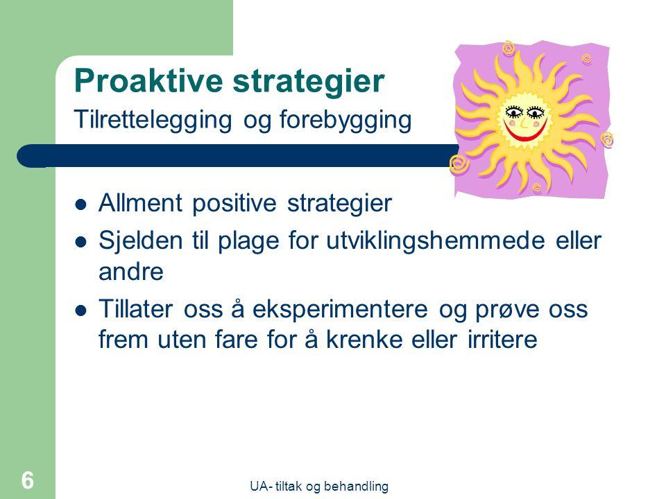 Proaktive strategier Tilrettelegging og forebygging
