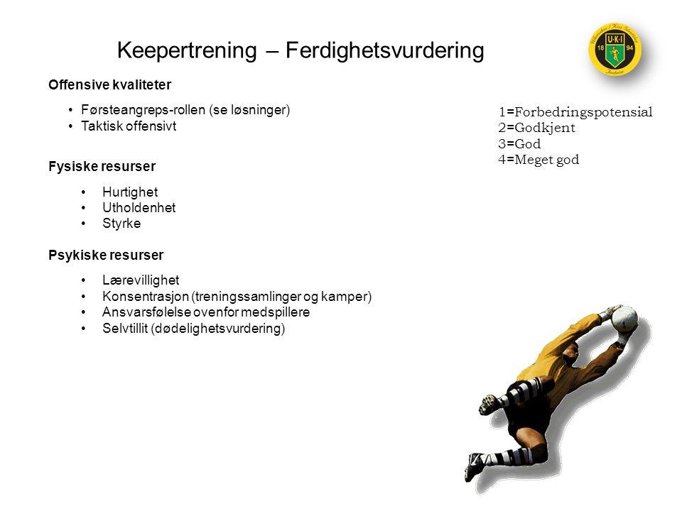 Keepertrening – Ferdighetsvurdering