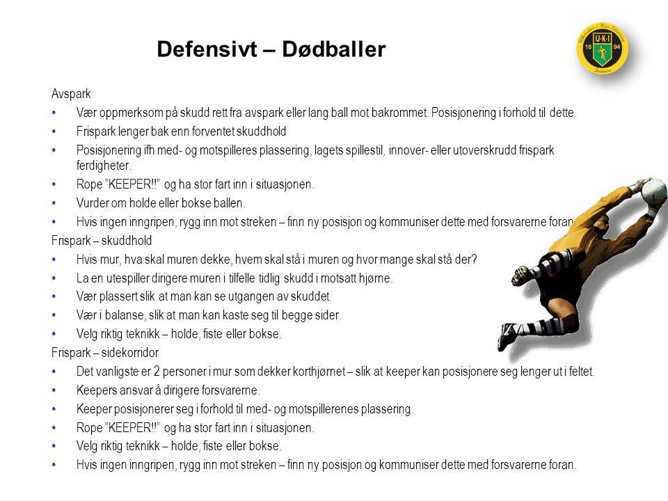 Defensivt – Dødballer Avspark