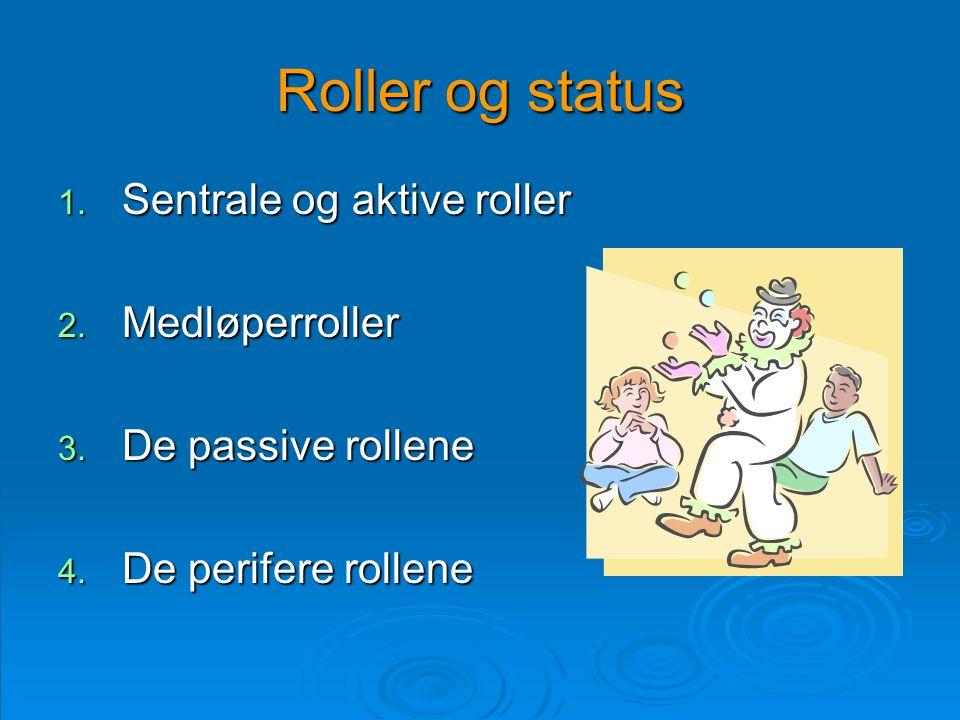 Roller og status Sentrale og aktive roller Medløperroller