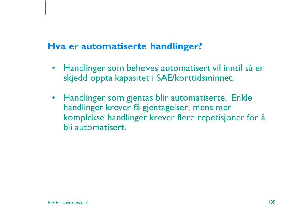 Hva er automatiserte handlinger