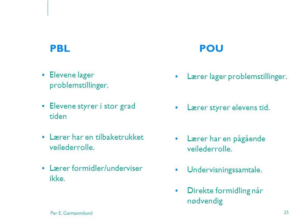 PBL POU Elevene lager problemstillinger.